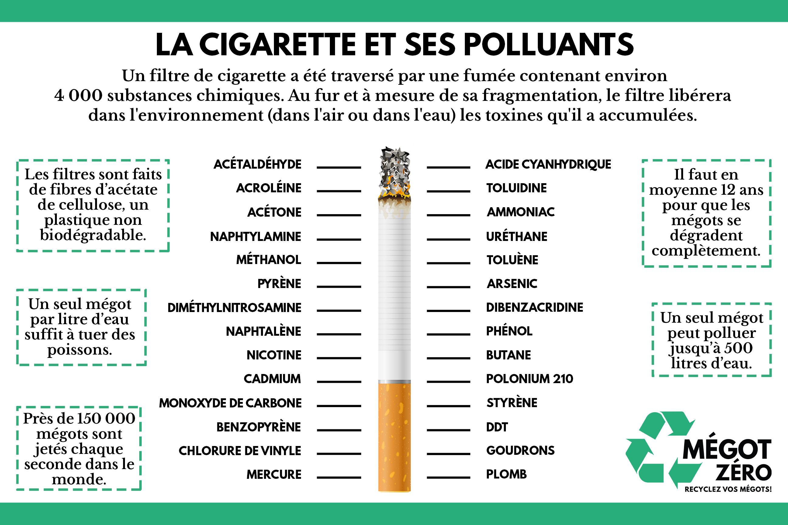 La cigarette et ses polluants