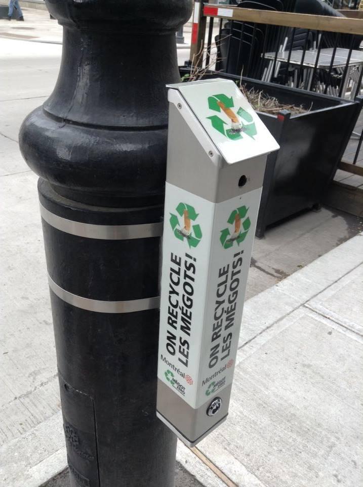 Cendrier Mégot Zero - Ville de Montréal